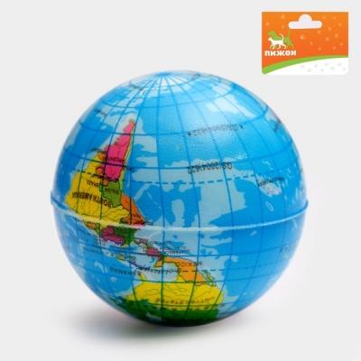 """Мячик зефирный """"Карта мира"""", 6,3 см, микс цветов"""