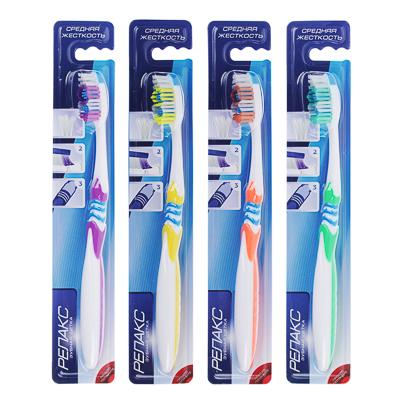 Зубная щетка Релакс, пластик, резина, средняя жесткость, индекс 5, степень 6<G<9