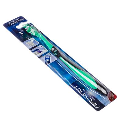 Зубная щетка Эффект, пластик, резина, средняя жесткость, индекс 5, степень 6<G<9